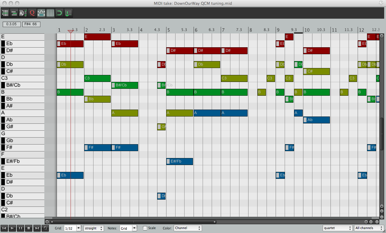 Reaper 19-tone piano roll 3