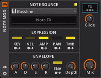 Bitwig Note MOD