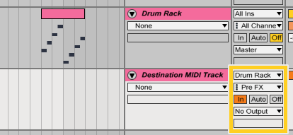 Routing for custom piano roll trick in Ableton
