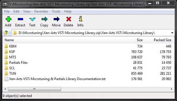 Xen Arts VSTi Microtuning Library