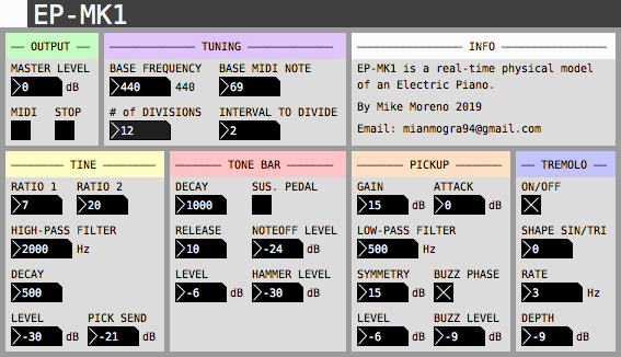Screenshot of Mike Moreno EP MK1